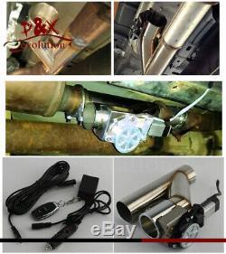 3 76mm 2x Électrique Pot D'échappement Cutout Télécommande Sans Fil Dump Valve De Dérivation Kit