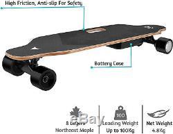 35 Planche À Roulettes Électrique 350w Longboard Télécommande Sans Fil D'érable Pont Adulte