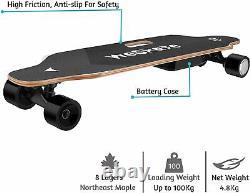 35 Pouces Planche À Roulettes Électrique 350w 20km/h Longboard Sans Fil Télécommande Durable