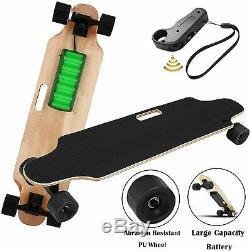 35inch Électrique Planche À Roulettes Longboard 350w Télécommande Sans Fil Maple Plate-forme