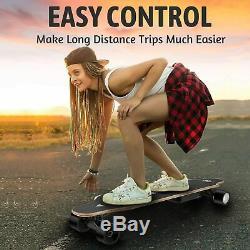 35inch Skateboard Électrique 350w 20 Kmh Longboard Télécommande Sans Fil 4000mah Contrôle