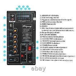 4,500w Haut-parleur Bluetooth Rechargable Dual 10 Woofer Party Fm Karaok Dj Led Aux