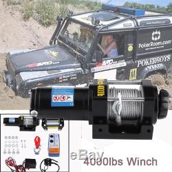 4000lbs Électrique 12v Récupération Treuil Camion Suv Télécommande Sans Fil