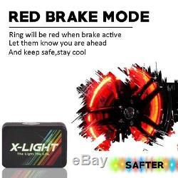 4x 17 Roue Bague Rim Lumière Rgb Led All-color Wheel Well Lumière Kit Pour Camion De Voiture