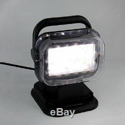 50w Télécommande Sans Fil Magnétique Projecteur Led Recherche Lumières Poids Lourds Bateau