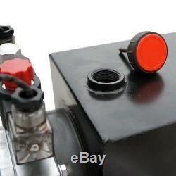 6 Pintes Double Effet Pompe Hydraulique 12v Dump Trailer + Télécommande Sans Fil