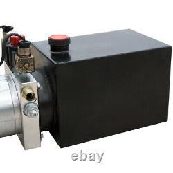 6 Quart Double Action Hydraulic Pump DC 12v Dump Trailer+wireless Remote Control