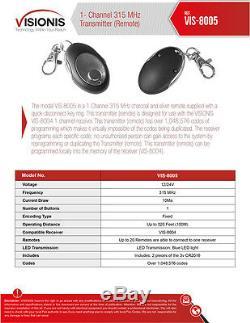 600lbs Maglock Kit D'accès Sans Fil De Contrôle Avec Récepteur Visionis Et Kit À Distance