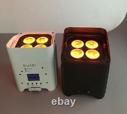 6in1 Rgbwa+uv DMX Led Flat Par Light Sans Fil Stage Laver Vers Le Haut-light Dj Pro Truss