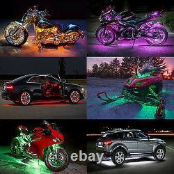 6x Wireless Motorcycle Rgb 36led Under Glow Neon Strip Light Kit Télécommande