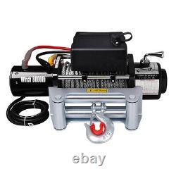 8000lb 5.5hp 12v Winch Électrique Vtt Suv Remorque Sans Wireline Télécommande Sans Fil