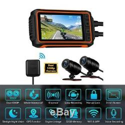 A10 150 ° Grand Angle 2ch 1080p 30fps Moto Wi-fi Gps Dash Cam Caméra G-sensor