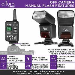 Altura Photo Professional Flash Kit Pour Sony Mirrorless Cameras (2 Pcs)