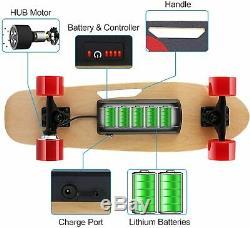Ancheer Planche À Roulettes Électrique Longboard, Sans Fil Conseil 350w Télécommande