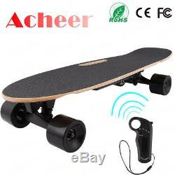 Ancheer Skateboard Électrique Télécommande Sans Fil 350w Double Moteur Longboard