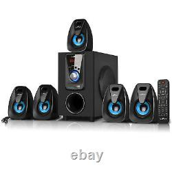 Befree 5.1 Channel Surround Sound Bluetooth Home Theater Speaker System Blue Nouveau