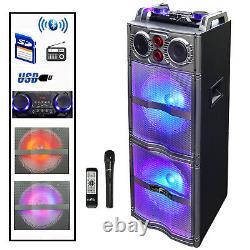Befree Sound 2x10 Woofer Bluetooth Portable Pa Dj Party Speaker + Lumières & MIC