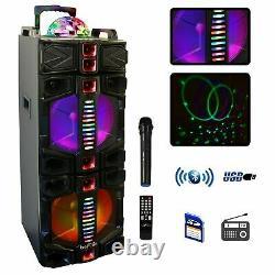 Befree Sound Dual 12 Bluetooth Portable Dj Pa Party Speaker Avec Lights MIC Usb