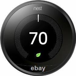 Black Nest Thermostat Programmable D'apprentissage De Troisième Génération Avecbase T3016us