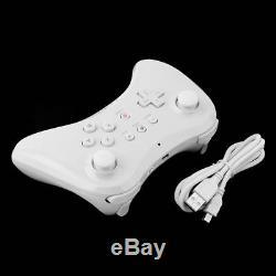 Blanc U Pro Bluetooth Télécommande Sans Fil Manette De Jeu Pour Nintendo Wii U