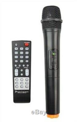 Bluetooth Portable Party W Enceinte Radio Fm, Télécommande Et Micro Sans Fil Nouveau