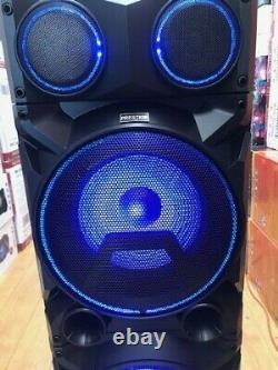 Bluetooth Rechargeable Party Dj Speaker Dual 12 Pouces Avec Lumières + Micro Sans Fil