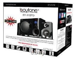 Boytone Bt-215fd, Puissant Système De Haut-parleur Bluetooth Sans Fil 55 W, Radio Fm