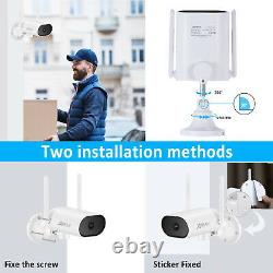 Caméra Ip Du Système De Sécurité Sans Fil Extérieur Avec Kit De Surveillance À Domicile Nvr 3mp Ir