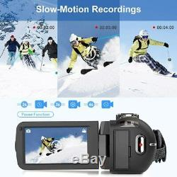 Caméra Vidéo 2.7k Caméscope Ultra Hd 36mp Vlogging Caméra Pour Youtube Ir Nuit