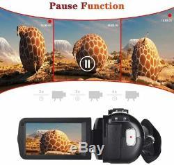Caméscope Caméra Vidéo Avec Camera Recorder Youtube Microphone 2.7k Ultra Hd