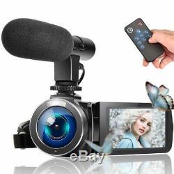 Caméscope Caméra Vidéo, Full Hd 1080p 30fps 3''lcd Écran Tactile Pour La Vidéo Youtube