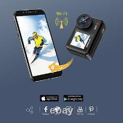 Campark V40 4k Caméra D'action 20mp Wifi Double Écran Tactile Eis Sport Imperméable Cam