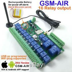 Commutateur À Distance À Relais Gsm Sms 16 Pour Télécommande Sans Fil Industrielle
