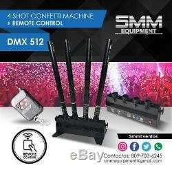 Confetti Machine 4 Tête Tirs Canon Launcher Télécommande Dmx512 De Soirée De Mariage