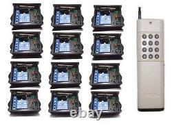 Diy Rf 12x1ch Façon Remote Control Switch Relay On/off Wireless Light Led Dc9v/12v