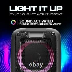 Dolphin Partybox 3400w Bluetooth Tailgate Party Speaker System Avec Lumières Et Tws