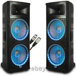 Dolphin Spx-280bt Dj Speaker Set Active/active Paire Avec Câble Xlr De 25 Pieds