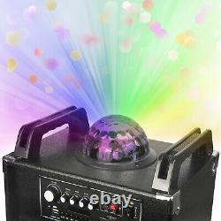 Double 10 Bluetooth Haut-parleur Bt Subwoofer Tweeter Led Disco Light Usb Aux MIC Fm
