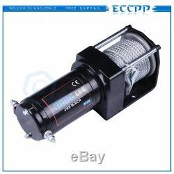 Eccpp 3000lbs Électrique 12v Treuil Acier Atv Utv Télécommande Sans Fil