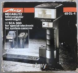 Entièrement Fonctionnant Metz Mecablitz 45 Cl-4 Poignée Mount Flash, Boîte + Extra Accessorie