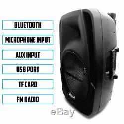 Fisher 15 Pouces Haut-parleur Sans Fil Karaoké Portable Avec Télécommande Et Lumières