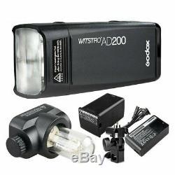 Flash Appareil Photo Godox Ad200 2.4g Ttl Pocket Speedlite Pour Nikon Canon Sony Fujifilm