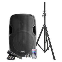 Gemini 15-inch 2000w Powered Bluetooth Party Dj Speaker Avec Stand MIC Remote