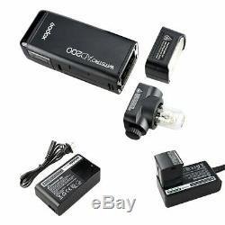 Godit 2.4 Speedlite Speedlite Avec Batterie Li-ion Flash Externe À Double Tête Ad200 De Godox