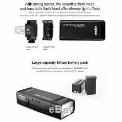 Godox 2.4g Ad200 Ttl Flash De Poche Type S Braceket Batterie 2900mah Speedlite