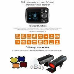 Godox 2.4g Ttl Hss Ad200 1 / 8000s Flash Pocket Light + Gratuit Ad-s7 Softbox Kit Us