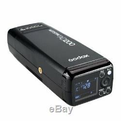 Godox Ad200 2,4 Ttl À Double Tête Extérieure Pocket Flash Speedlite 2900mah Batterie