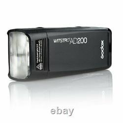 Godox Ad200 2.4g Ttl 1/8000s Dual Head Pocket Speedlite Camera Flash Extérieur