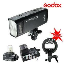 Godox Ad200 2.4g Ttl Hss Double Tête De Poche Speedlite Appareil Photo Flash Pour Sony Canon
