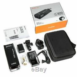 Godox Ad200 Double Tête Pocket Flash Bowens Braceket F Canon Nikon Sony Pentax